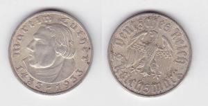 2 Mark Silber Münze Martin Luther 1933 F Jäger 352 (117176)
