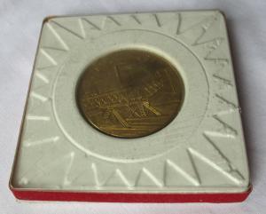 Bergbau Medaille VEB Braunkohlewerk Borna vergoldet ca. 45 mm groß (124771)