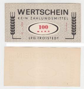 100 Mark Banknote DDR LPG Geld Troistedt 1968  (116435)