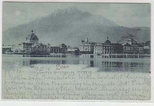 20645 Mondscheinkarte Luzern Totalansicht 1898