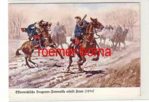 81240 Ak Österreichische Dragoner Patrouille erhält Feuer (1914) um 1930