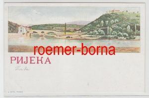 74016 Ak Lithographie Rijeka Fiume in Kroatien um 1900