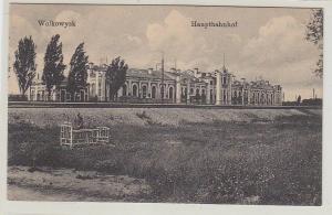 34502 Ak Wolkowysk Weissrussland Hauptbahnhof um 1915
