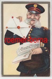 83978 Künstler Ak Briefträger mit Generalanzeiger um 1920