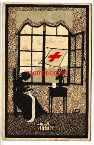 80112 Künstler Ak Wohlfahrtskarte Rotes Kreuz 1917