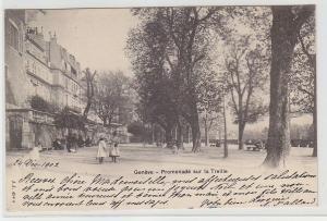 68781 Ak Genéve Genf Schweiz Promenade sur la Treille 1902