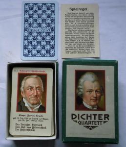 Schönes Dichter-Quartett im Originalkarton um 1930 (112519)