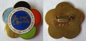 Emailliertes Abzeichen Weltfestspiele der Jugend Moskau 1957 (124896)