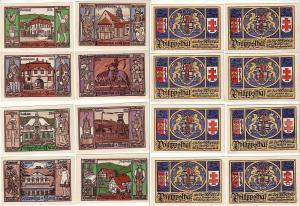 8 Banknoten Notgeld Gemeinde Philippsthal an der Werra 1921 (112582)