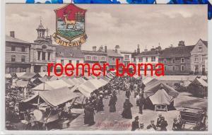 86113 Ak Hitchin England Market Markt um 1910