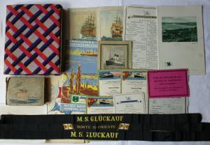 Nachlaß mit Dokumenten und Fotos von Schiffsreise um 1930 (102499)