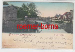 78462 Ak Gruß aus Greifenberg in Pommern Gryfice Jungfernbrücke 1901