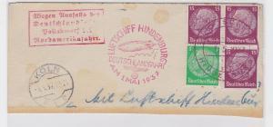 84616 Brief Deutschlandfahrt Luftschiff Hindenburg 1.Mai 1937