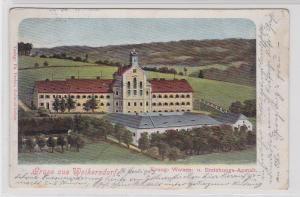 88536 Ak Gruß aus Weikersdorf Waisen- & Erziehungsanstalt 1903