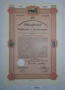 100 Reichsmark Pfandbrief Danzig-Westpreußische Landschaft Okt. 1941 (132057)