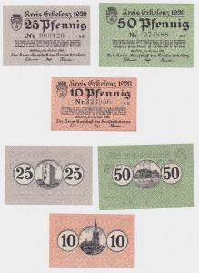 3 Banknoten Notgeld Kreis Erkelenz 24.Juni 1920 (120541)