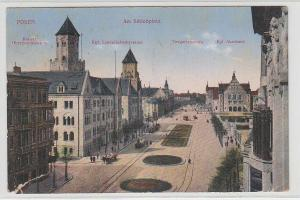 67843 Feldpost Ak Posen am Schloßplatz Oberpostdirektion usw. 1916