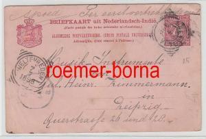 76080 alte Ganzsachen Karte Niederländisch Indien 7 1/2 Cent. 1898