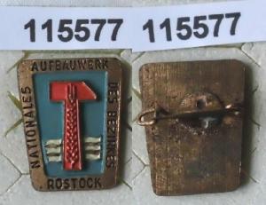 DDR Aufbaunadel Rostock in Bronze (115577)