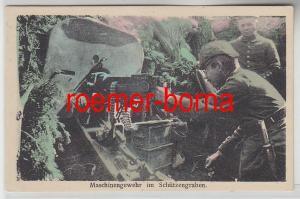 77990 Ak Maschinengewehr im Schützengraben um 1915