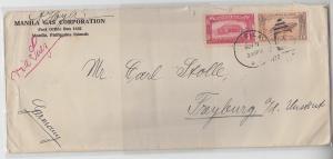 69914 seltener Brief Philippinen Manila nach Freyburg Unstrut 1932