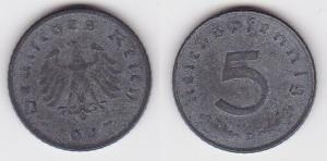 5 Pfennig Zink Münze alliierte Besatzung 1947 D Jäger 374 (120454)