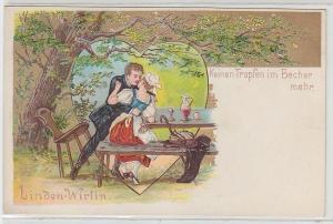 46176 Präge Lied Ak Linden-Wirtin