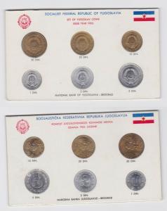 Kursmünzsatz KMS Jugoslawien 6 Münzen 1 bis 50 Dinar 1963 (133811)