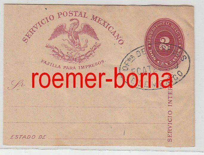 76075 alter Ganzsachen Brief Mexiko 2 Centavos um 1900 0