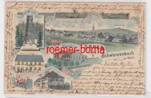 79029 Ak Lithographie Gruss aus Schwarzenbach am Wald 1905