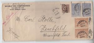 69917 seltener Brief Philippinen Manila nach Zeuichfeld Weissenfels Land 1934