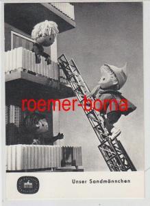 67328 Ak Unser Sandmännchen auf der Drehleiter Fernsehfunk der DDR 1967