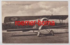82806 Ak französischer Nieuport Kampfeinsitzer Flugzeug um 1915