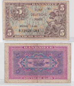 5 Mark Banknoten Bank Deutscher Länder 1948 (117500)