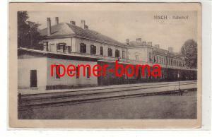 74701 Feldpost Ak Nisch Niš  Serbien Bahnhof 1916