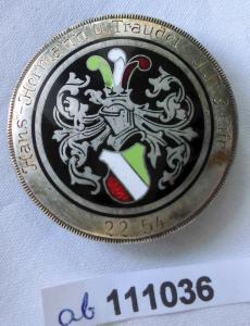 Emailliertes Studenten Abzeichen rot weiß grün 2.2.1854 (111036)