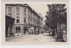 76705 Foto Ak Warnsdorf Strassenansicht mit Geschäften 1942