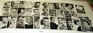 40 Zigarettenbilder Schauspieler aus Diana Zigaretten 3 1/3, um 1935