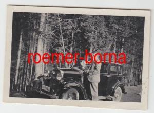 73200 Original Foto Hof alter PKW Oldtimer um 1935