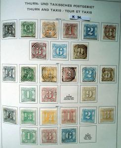 Schöne hochwertige Briefmarkensammlung Thurn und Taxis 1852 bis 1866
