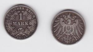 1 Mark Silber Münze Deutschland Kaiserreich 1892 J Jäger Nr.17 (123036)