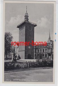 85244 Ak Elbing Markt Tor u. Schichau-Denkmal um 1930
