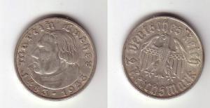 2 Mark Silber Münze Martin Luther 1933 F Jäger 352 (103027)