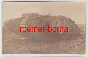 83965 Foto Ak englischer Panzer Tank 1918