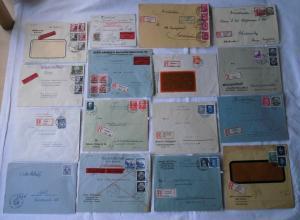 Sammlung von 60 Einschreiben Briefen Deutsches Reich (105961)