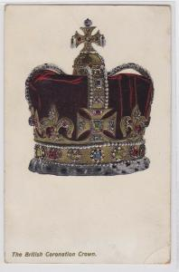 90988 Künstler AK The british Coronation Crown - britische Krönungskrone um 1910