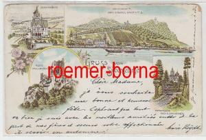 74098 Mehrbild Ak Gruss vom Siebengebirge Zahnradbahn usw. 1900