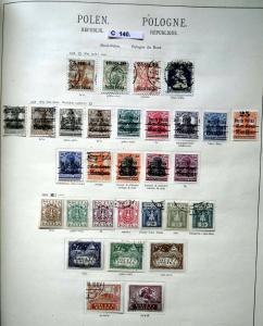 Seltene Briefmarkensammlung Republik Polen 1918 bis 1938 fast komplett