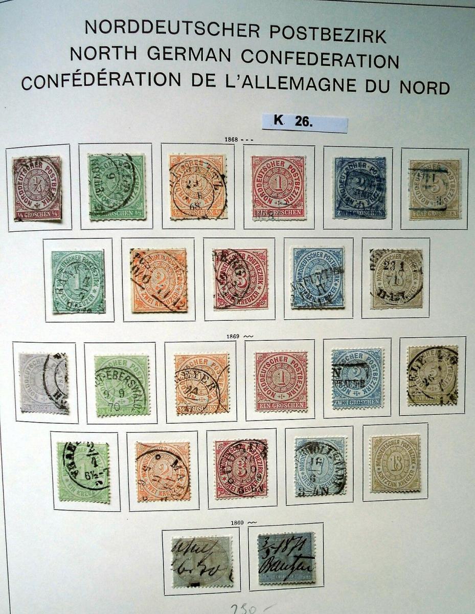 Schöne hochwertige Briefmarkensammlung Norddeutscher Postbezirk komplett 0