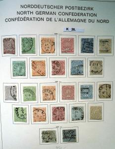 Schöne hochwertige Briefmarkensammlung Norddeutscher Postbezirk komplett